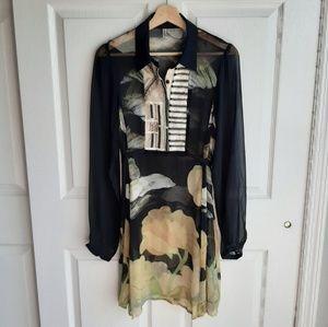 Bl-nk Vespertide Embellished Tunic Size Medium